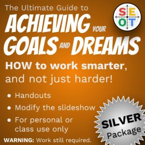 Screenshot of the goal setting package - silver