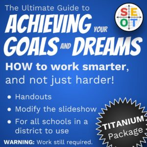 Screenshot - goal setting package for school districts and corporations - Titanium