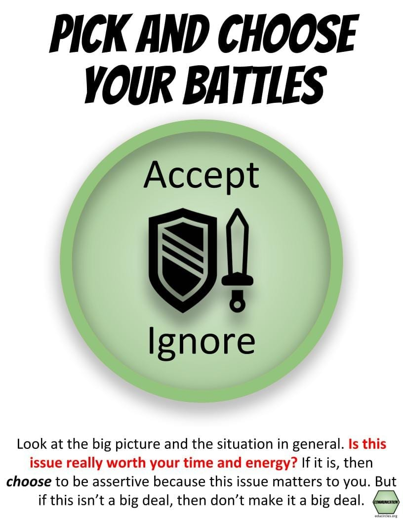 Strategies to develop a growth mindset and communicate more clearly: Pick and choose your battles